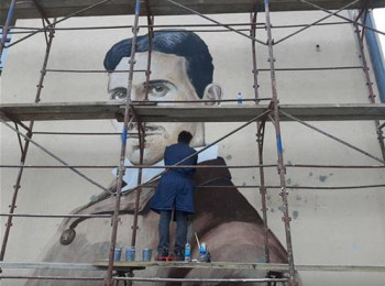 Višegrad: Mural Nikole Tesle krasi Srednjoškolski centar
