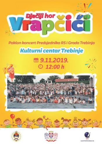 Najava: Koncert dječijeg hora 'Vrapčići' u Trebinju