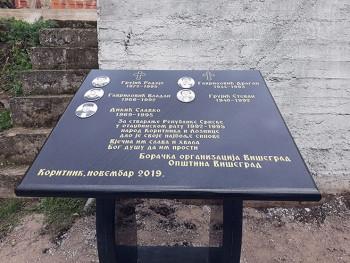 U selu Koritnik osveštano spomen-obilježje poginulim borcima