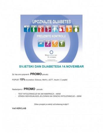 Samo u Herclab laboratoriji: 15% popusta povodom Svjetskog dana borbe protiv dijabetesa