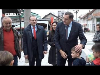 Dodik u Nevesinju: Za saniranje posljedica zemljotresa pomoć sa republičkog nivoa (VIDEO)