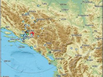 Ponovo zemljotres kod Nevesinja