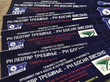 Herceg RTV daruje ulaznice za rukometnu utakmicu između RK 'LEOTAR' Trebinje i RK 'BOSNA' Visoko