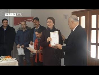Povodom Međunarodnog dana volontera uručene zahvalnice Crvenog krsta  (05.12.2019.)