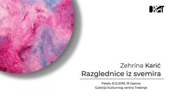 Izložba 'Razglednice iz svemira' Zehrine Karić