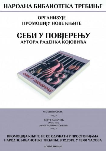 Najava: Promocija knjige 'Sebi u povjerenju'