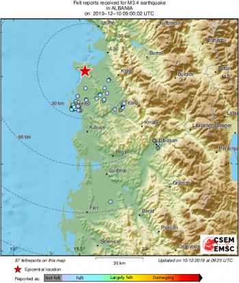 Опет земљотрес у Албанији