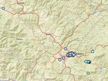 Slabiji potres na području Istočnog Sarajeva