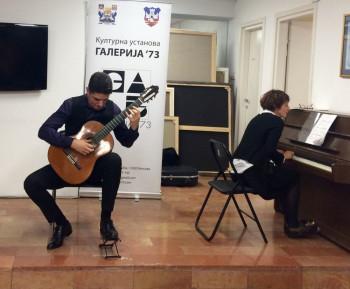 Koncert Trebinjca Nikole Jelačića održan u Galeriji `73