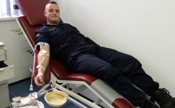 Policija KPZ-a Foča darovala krv
