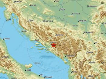 Zemljotres 3,8 stepeni rihtera u blizini Nevesinja