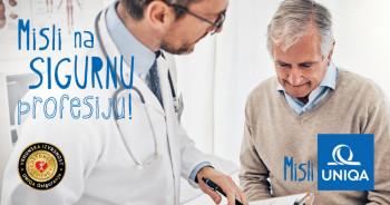 Novo na tržištu osiguranja –UNIQA uvodi program prevencije i zaštite ljekara  medicinskih i srodnih djelatnosti
