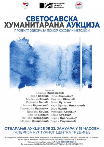 Требиње: Светосавска хуманитарна аукцију слика за изградњу дневног центра 'Подржи ме - 9. јануар'