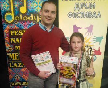 Veliki uspjeh Ane Nenadić - učenice Muzičke škole 'Sveti Roman Melod' Gacko