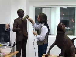 Izložena statua ruskog predsjednika na Festivalu čokolade