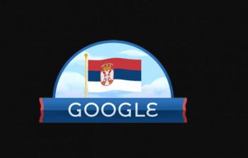 Srpska trobojka na  'GUGLU'