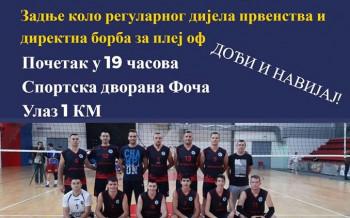 Odbojkaški derbi sezone u Foči: Maglić i Bosna odlučuju ko će u plej-of