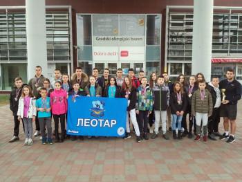 Pehar i 84 medalje plivačima PVK 'Leotar'