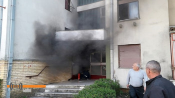 Požar u stambenoj zgradi u Bregovima