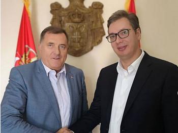 Sastanak Dodika i Vučića