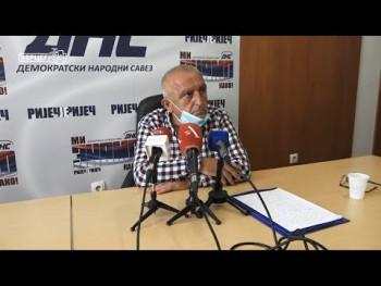 DNS podijeljen zbog imenovanja Jovice Vlatkovića (VIDEO)