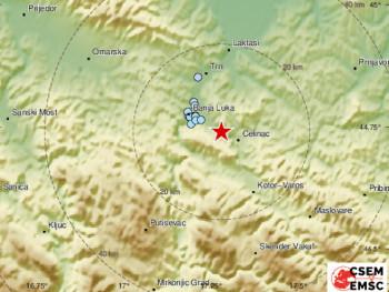 Земљотрес на подручју Бањалуке