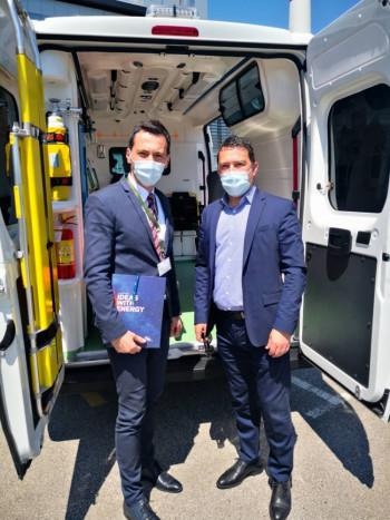 Bolnica Nevesinje dobila savremeno opremljeno sanitetsko vozilo-donacija kompanije EFT