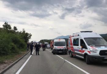 Приведена жена због несреће на путу Подгорица - Никшић