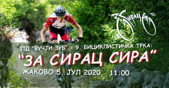 Biciklistička trka 'Za sirac sira' pomjerna za jul