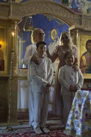 FOTO: Drašković u Petropavlovom manastiru krstio sinove
