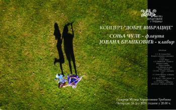 Koncert 'Dobre vibracije' - četvrtak 16. jula u Galeriji Muzeja Hercegovine