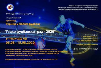 Najava: Manifestacija u malom fudbalu 'Gacko – Fudbalski grad 2020'
