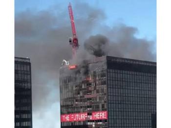 Gori toranj Svjetskog trgovinskog centra u Briselu (VIDEO)
