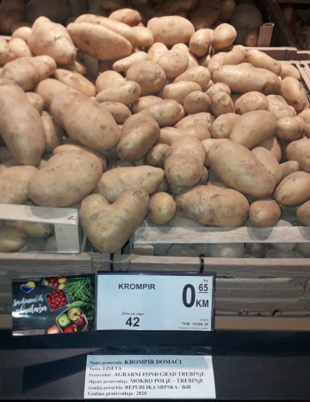 Povrće proizvedeno u Agrarnom fondu u trebinjskim marketima i restoranima