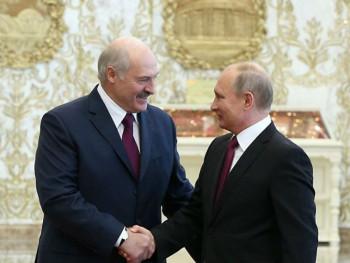 Putin i Lukašenko na sastanku u Sočiju