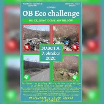Pozivaju se građani  Bileće na veliku akciju čišćenja- 'OB Eco challenge'!