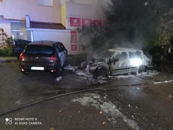 Gradina: Gorio automobil u Trebinju