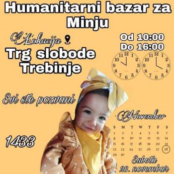 Humanitarni bazar za Minju Matić sutra u Trebinju