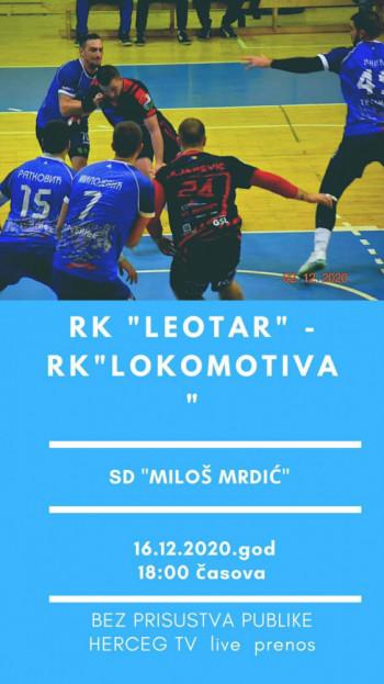Najava utakmice između RK 'Leotar' i RK 'Lokomotiva' iz Brčkog