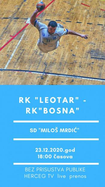 "RK ""Leotar"" protiv ekipe iz Visokog - Prenos na Herceg RTV"