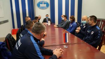 Fudbaleri i uprava Borca na prijemu kod gradonačelnika Ćurića