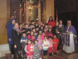 Pričešće učenika osnovne škole i djece iz obdaništa u Čajniču
