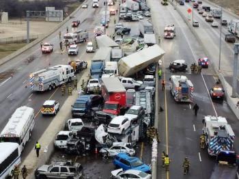 Nezapamćen lančani sudar u Teksasu, pet poginulih