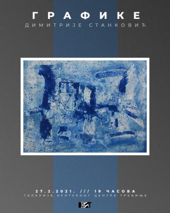 Najava izložbe grafika Dimitrija Stankovića