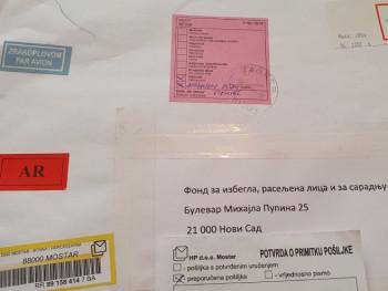 Pošta na ćirilici ne može iz Mostara