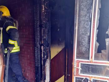 Zapaljena srpska kuća u Mostaru (FOTO)