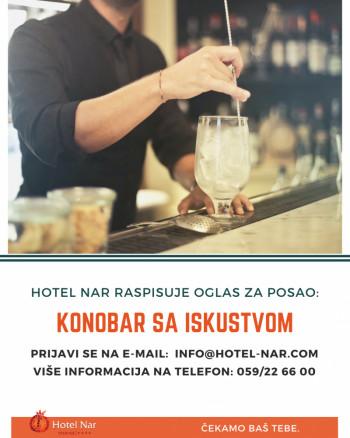 Hotel NAR iz Trebinja raspisuje oglas za posao