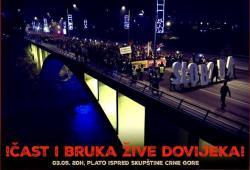 Protestni skup u Podgorici: Čast i bruka žive dovijeka