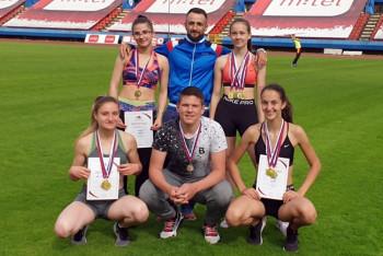 Atletičari ''Leotara'' briljirali na juniorskom prvenstvu Srpske