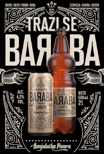 ''Baraba'' novi brend Banjalučke pivare